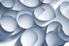 abstrakcjonistyczne kędzierzawe papierowe spirale Obrazy Royalty Free