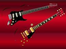 Abstrakcjonistyczne Klasyczne gitary Obrazy Stock