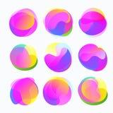Abstrakcjonistyczne kolor formy Gradientowi fluidów okręgi w delikatnych brzmieniach Fotografia Royalty Free