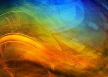 abstrakcjonistyczne kolorowe fala Obraz Stock