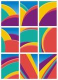 Abstrakcjonistyczne kolorowe fala - kreskowy tło Obrazy Royalty Free