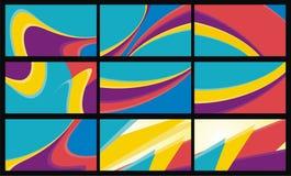 Abstrakcjonistyczne kolorowe fala - kreskowy tło Fotografia Royalty Free