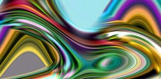 Abstrakcjonistyczne kolorowe gładkie linie, tęcza machają linie, kontrasta abstrakta tło Zdjęcie Royalty Free