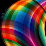 abstrakcjonistyczne kolorowe krzywy ilustracja wektor