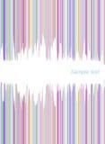 abstrakcjonistyczne kolorowe okładkowe linie Zdjęcie Stock