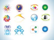 abstrakcjonistyczne kolorowe projekta elementów ikony Zdjęcia Royalty Free