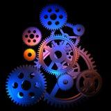 abstrakcjonistyczne kolorowe przekładnie ilustracja wektor