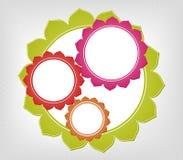 Abstrakcjonistyczne kolorowe ramy. Wektorowy tło Zdjęcie Stock