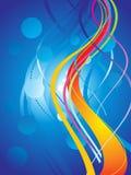 abstrakcjonistyczne kolorowe tęczy szablonu fala Obrazy Royalty Free