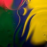 Abstrakcjonistyczne koloru oleju krople Zdjęcia Royalty Free