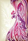 abstrakcjonistyczne koszowe purpury ilustracja wektor