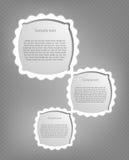 Abstrakcjonistyczne kreskówek ramy. Wektor Zdjęcia Stock