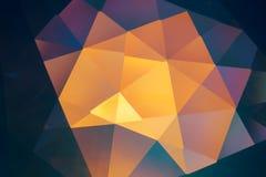 abstrakcjonistyczne krystaliczne refrakcje Zdjęcia Royalty Free
