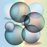 abstrakcjonistyczne kule ziemskie Obraz Stock