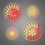 Abstrakcjonistyczne kwiat sfery ilustracji