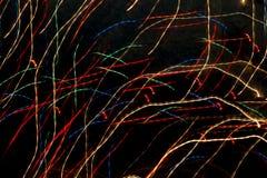 Abstrakcjonistyczne lekkie linie w czarnym tle Zdjęcie Royalty Free