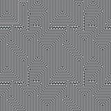 Abstrakcjonistyczne linie bezszwowy wzór Wzrokowy złudzenie ilustracji