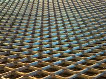 Abstrakcjonistyczne linie przemysłowy metal siatki wzór Obraz Royalty Free