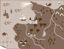 abstrakcjonistyczne mapy Fotografia Royalty Free