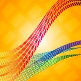Abstrakcjonistyczne mozaik linie Obraz Royalty Free