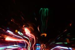 Abstrakcjonistyczne neonowe iskry Zdjęcie Stock