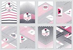 Abstrakcjonistyczne Nowożytne Wektorowe minimalne szablon ulotki Wektor Geometryczny ilustracja wektor