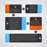 Abstrakcjonistyczne nowożytne ciemne infographics opcje Obrazy Stock