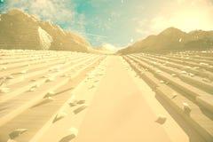 Abstrakcjonistyczne papierowe góry Fotografia Royalty Free