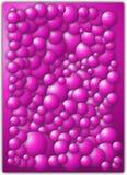 Abstrakcjonistyczne piłki purpurowe  Obraz Stock