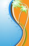 abstrakcjonistyczne plażowe palmy Obrazy Royalty Free