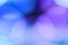 Abstrakcjonistyczne podwodne gry z bąblami, galaretowymi piłkami i światłem, Fotografia Stock