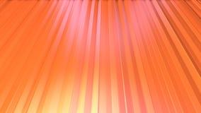 Abstrakcjonistyczne proste różowe pomarańczowe niskie poli- 3D zasłony jako 3d kreskówki tło Miękki geometryczny niski poli- ruch royalty ilustracja
