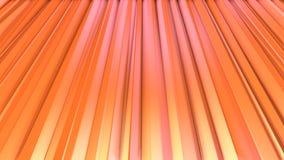 Abstrakcjonistyczne proste różowe pomarańczowe niskie poli- 3D zasłony jako unikalny tło Miękki geometryczny niski poli- ruchu tł ilustracja wektor