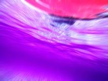 Abstrakcjonistyczne purpury i magenta podwodny ciekły dynamiczny compositio Zdjęcia Royalty Free
