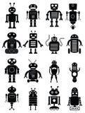 Abstrakcjonistyczne robot ikony ustawiać Obrazy Royalty Free