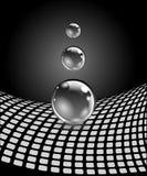 Abstrakcjonistyczne sfery z powierzchnią Pojęcie biznesowy projekt Fotografia Stock