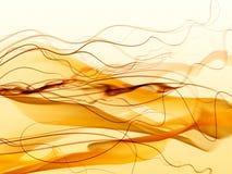 abstrakcjonistyczne siatki pomarańcze dymu fala ilustracja wektor