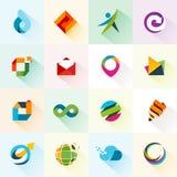 Abstrakcjonistyczne sieci ikony, elementy i Zdjęcia Royalty Free