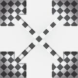 Abstrakcjonistyczne strzała na czarny i biały szachownicie Zdjęcie Stock