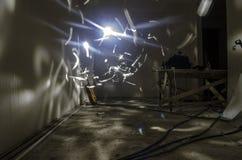 Abstrakcjonistyczne tła freezelight krzywy Wśrodku pokoju Mistyczna, surrealistyczna scena, Fotografia Stock