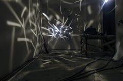 Abstrakcjonistyczne tła freezelight krzywy Wśrodku pokoju Mistyczna, surrealistyczna scena, Fotografia Royalty Free