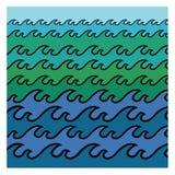 abstrakcjonistyczne tła morza fala ilustracji