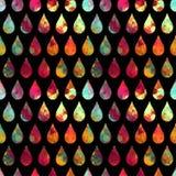 Abstrakcjonistyczne tło krople woda Zdjęcie Stock