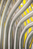 abstrakcjonistyczne tła metalu drymby Obraz Stock