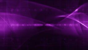 Abstrakcjonistyczne technologii tła pętli purpury zbiory wideo