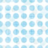 Abstrakcjonistyczne tekstylne błękitne polek kropki paskują bezszwowego deseniowego tło Fotografia Stock