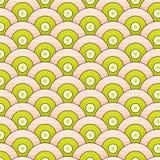 Abstrakcjonistyczne wektorowe bezszwowe deseniowe proste fala round ilustracji