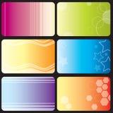 abstrakcjonistyczne wizytówki Fotografia Stock