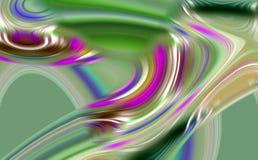 Abstrakcjonistyczne zielone liny, żywe fala linie, kontrasta abstrakta tło Obrazy Royalty Free