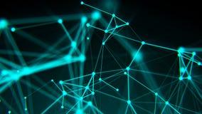 Abstrakcjonistyczne związek kropki tła binarnego kodu ziemi telefonu planety technologia Cyfrowego rysunkowy błękitny temat pojęc royalty ilustracja
